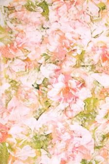 Лен костюмный цифровая печать Флоранс