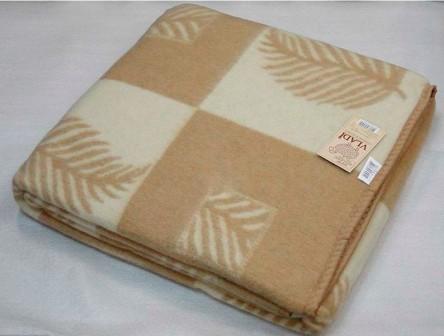 Одеяло жаккардовое из новозеландской шерсти 200х220